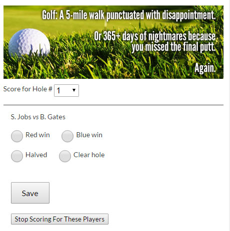 Golf Deputy: Sponsors Example
